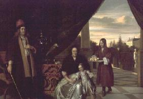 Family Portrait on a Terrace 1667