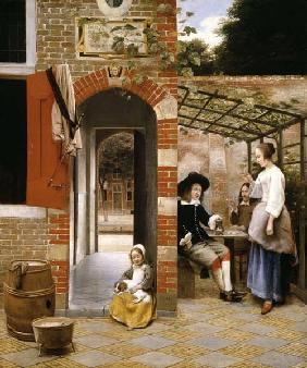 The Courtyard of a House in Delft 1658