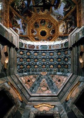 View of the interior showing the coffered vault above the altar designed by Matteo Nigetti (1560-164 1644 and p