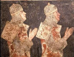 Two crusaders of the Minutolo family, from the Cappella Minutolo