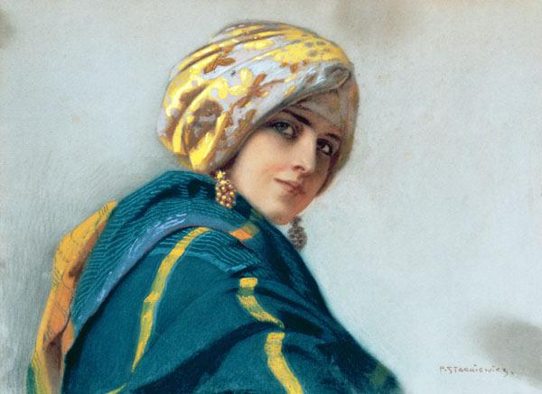 Girl in a Shawl c.1920