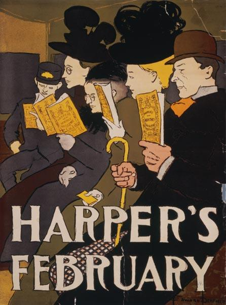 Harper's February, Von Edward Penfield 1897