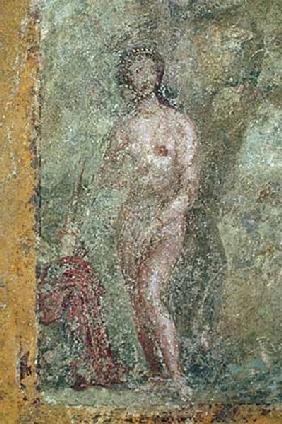 Kunstdruck von  Pompeji, Wandmalerei - Diana, die von Aktaeon beobachtet wird