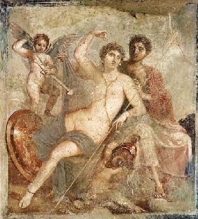 Kunstdruck von  Pompeji, Wandmalerei - Ares und Aphrodite