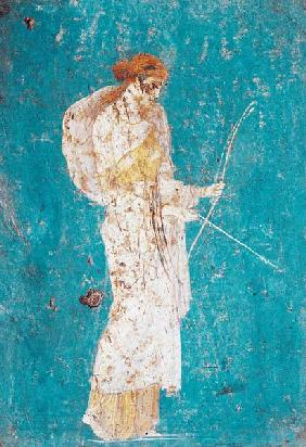 Kunstdruck von  Pompeji, Wandmalerei - Roman civilization. Fresco depicting Diana
