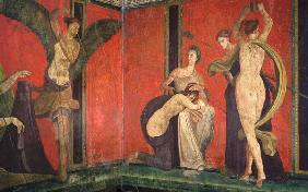 Kunstdruck von  Pompeji, Wandmalerei - Villa dei Misteri - Detail