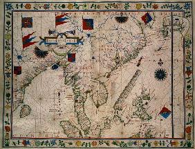 HM 41 (12) The Far East, from a portolan atlas, Fernao vaz Dourado (1520-c.1580) 1570
