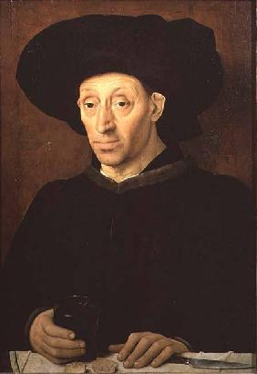Portrait of a Man with a Glass of Wine mid 15th c