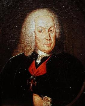Portrait of Sebasiao Jose de Carvalho e Mello (1699-1782) Marques de Pombal