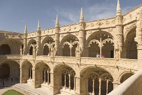 View of the cloisters from the upper gallery (photo) (see also 237489 & 237491)