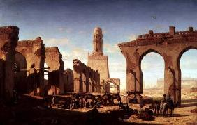 Ruins of the Mosque of the Caliph El Haken, Cairo c.1840