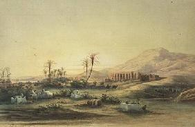 Valley of the Nile with the Ruins of the Temple of Seti I 1844 cil &
