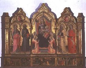Madonna and Child enthroned with St. Catherine, St. drancis, St. Zenobius and St. Mary Magdalene (te 0532
