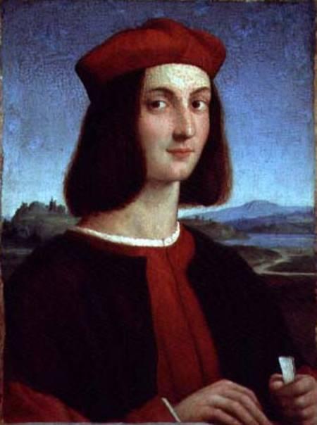 Portrait of the Young Pietro Bembo - Raffael (eigntl. Rafaello Sant als  Kunstdruck oder handgemaltes Gemälde.