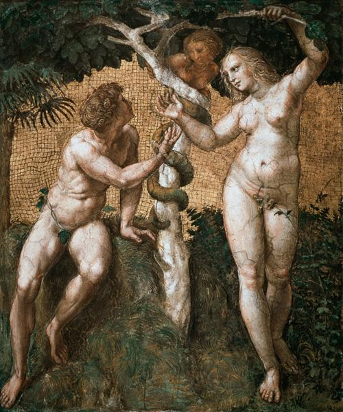 Adam and Eve, from the 'Stanza della Segnatura' c.1508-11