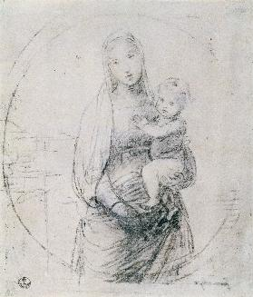 Study of a Madonna and Child 1760