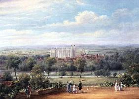 Eton College from the terrace of Windsor Castle