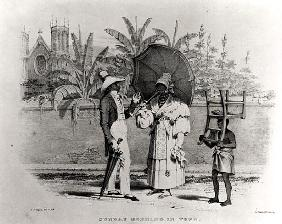 Sunday Morning in Town, from ''Bridgen''s West Indian Sketches''