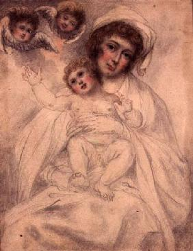 Mother and Child with Cherubs c.1790  an