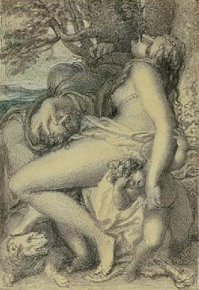Mars reposing in the lap of Venus c.1805-15