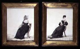 Two Portraits of Widows 1837  and
