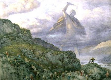 Bild: richard doyle - the god thor chasing the dwarfs