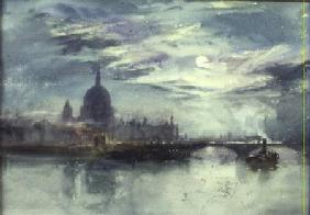 View of the Thames with St. Paul's in the Distance