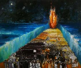 Exodus, 1999 (oil on canvas)