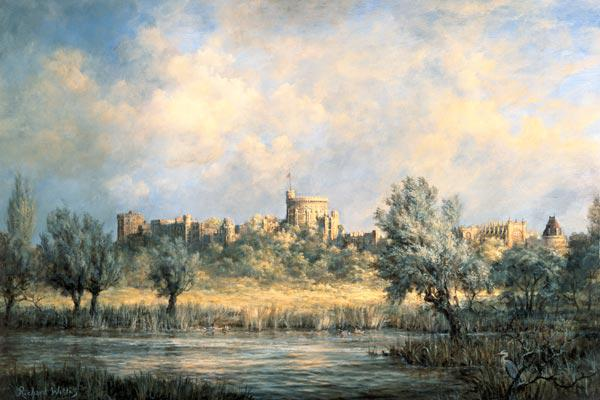 Windsor Castle: from the River Thames
