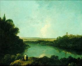 The Nemi Lake near Rome c.1760