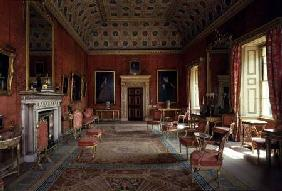 Syon House, Middlesex: interior showing the Red drawing room