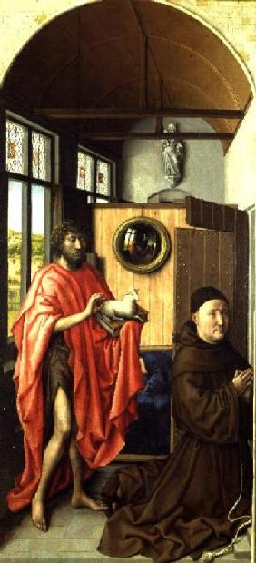 St. John the Baptist and the Donor, Heinrich Von Werl from the Werl Altarpiece 1438