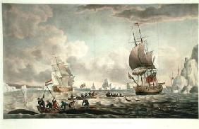 The North West or Davis's Streights Whale Fishery, published by John & Josiah Boydell 1789 our