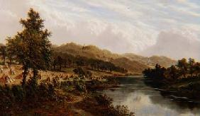 The River Severn, near Bewdley c.1876