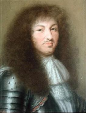 Portrait of Louis XIV (1638-1715) King of France (pastel on paper) 19th