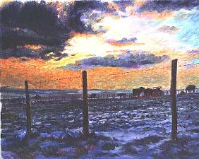 Dusk on the Downs in Winter, 1996