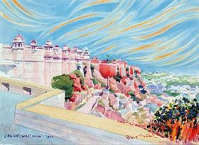 Gwalior Fort, India, 2001 (w/c on paper)