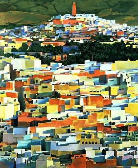 North African Townscape (oil on canvas)