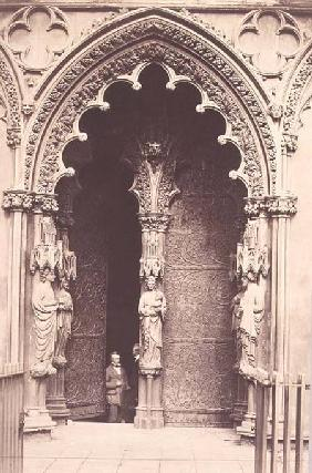 The West Porch, Litchfield Cathedral c.1858 (se