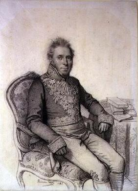 Portrait of an Officer of the Legion d'Honneur, 1842 (pencil on paper) 16th