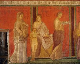 The Catechism with a Young Girl Reading and the Initiate Making an Offering, North Wall, Oecus 5