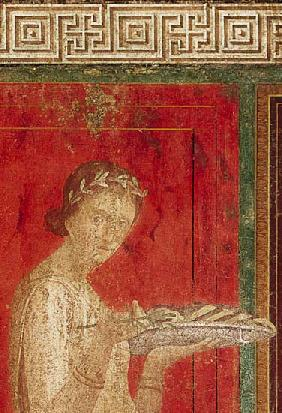 Detail of the Initiate, from the Catechism Scene, North Wall, Oecus 5 60-50 BC