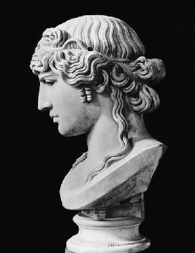 Bust of Antinous (c.110-30) called 'Antinous Mondragone' c.130-138
