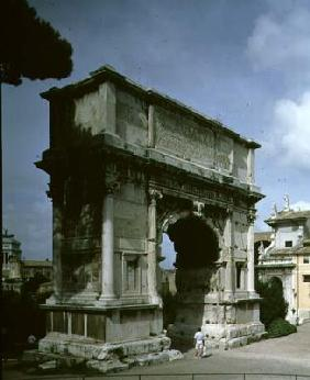 The Arch of Titus, to commemorate the Emperor's Sack of Jerusalem in 70 AD, 81 AD (photo) 20th