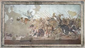 The Alexander Mosaic, depicting the Battle of Issus between Alexander the Great (356-323 BC) and Dar 18th