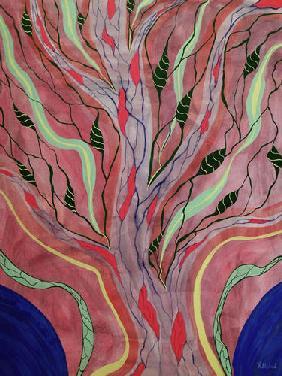 Kunstdruck von Romed Unsinn - Baum