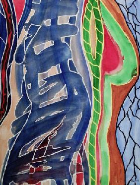 Kunstdruck von Romed Unsinn - Brust