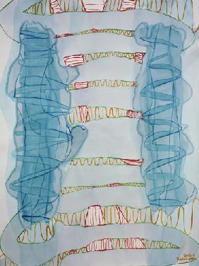 Kunstdruck von Romed Unsinn - Funken springen (Gefühle entstehen)