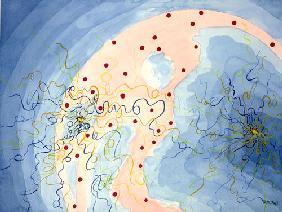 Kunstdruck von Romed Unsinn - Gedanken verschwimmen