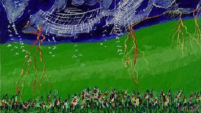 Kunstdruck von Romed Unsinn - Regen